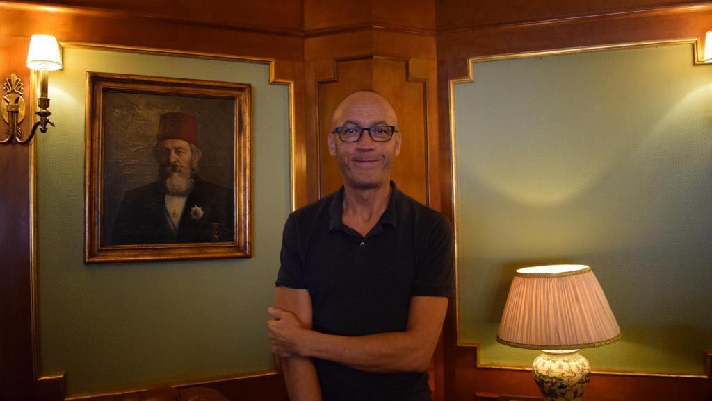 Joseph Hillel, director of 'City Dreamers', at the Cairo International Film Festival, December 27, 2019