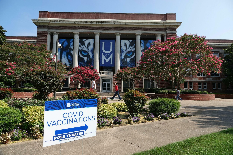 Un centre de vaccination dans le Tennessee. Dans cet État, le Covid-19 touche désormais majoritairement les non-vaccinés.