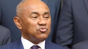 Le président de la CAF, le Malgache Ahmad Ahmad, le 29 janvier 2019 à Abidjan.