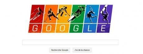 Стартовая страница поисковика Google в день открытия Олимпийских Игр в Сочи, 7 февраля 2014