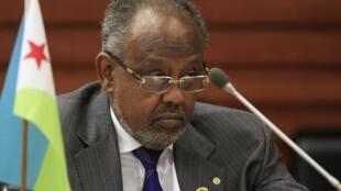 Le président djiboutien Ismail Omar Guelleh à Addis-Abeba, le 31 janvier 2014.