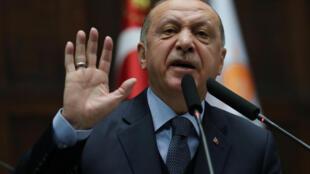 O presidente turco, Recep Tayyip Erdogan, em janeiro de 2019.