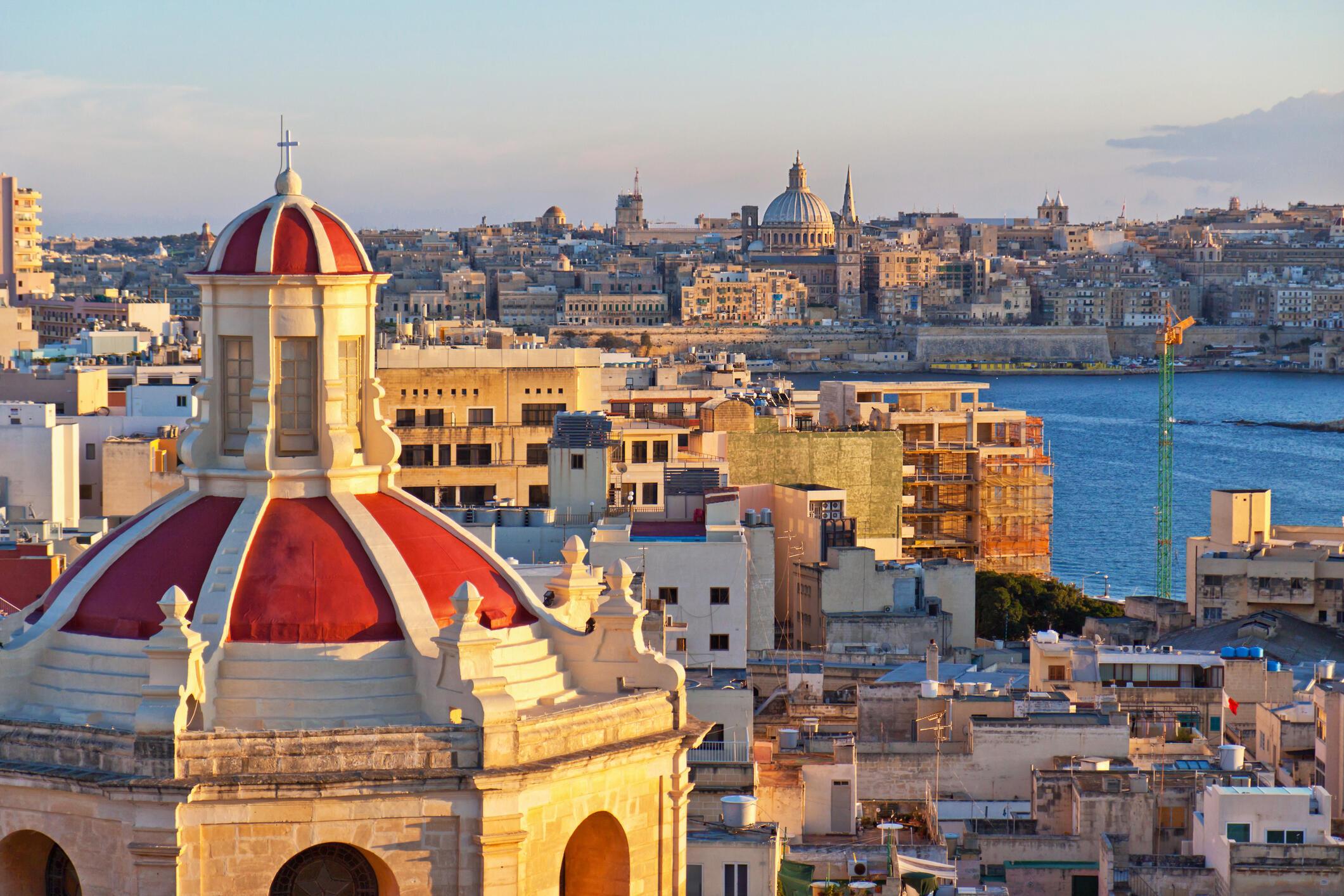 Vue de La Valette, capitale de Malte.