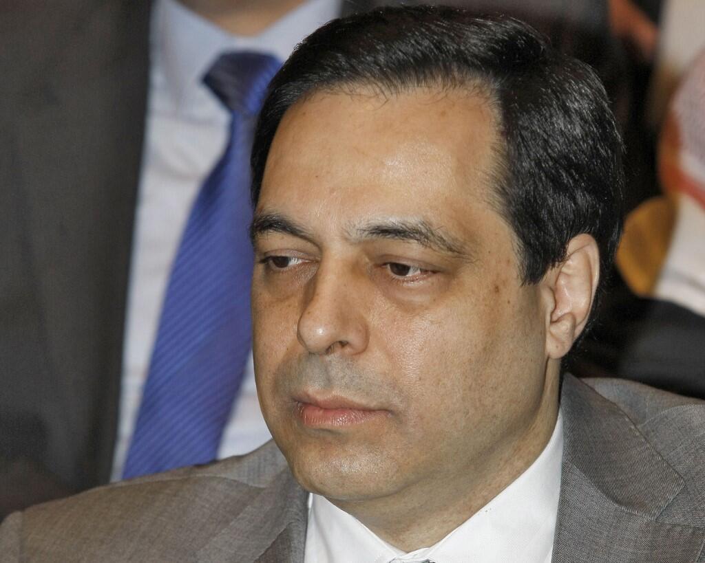 Hassan Diab mwaka 2012 wakati alipokuwa Waziri wa Elimu Lebanon.
