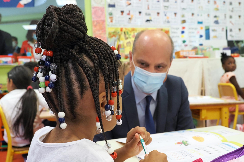 Le ministre de l'Éducation le jour de la rentrée des classes, à Chateauroux, le 1er septembre 2020.