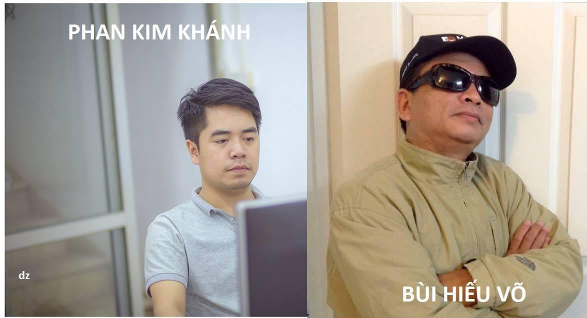 Hai blogger Phan Kim Khánh và Bùi Hiếu Võ vừa bị bắt ngày 21/03/2017.