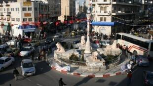 La place Al-Manara, à Ramallah.