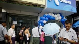 Le groupe norvégien Telenor a gagné un appel d'offres international en 2013 en Birmanie.