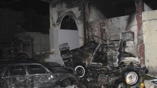 Une bombe a explosé dans le parking du quartier général de la police, à Damas, le 7 octobre.