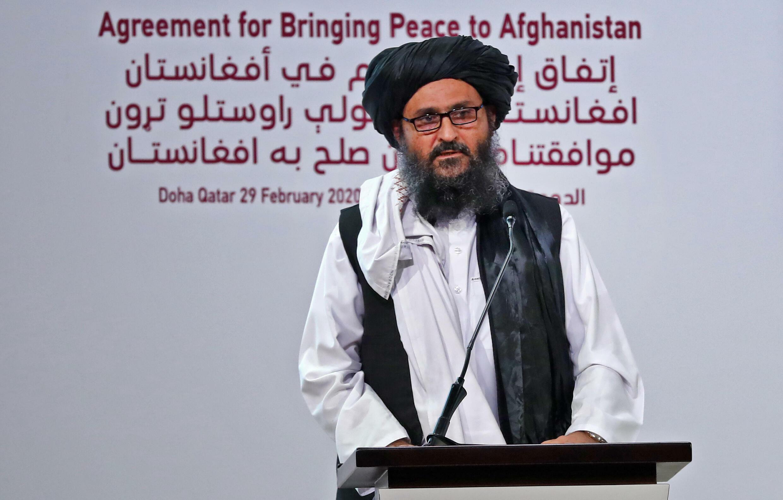 El cofundador de los talibanes, Abdul Ghani Baradar, el 29 de febrero de 2020 en Doha