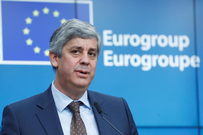 O português Mário Centeno, Presidente do Eurogrupo.