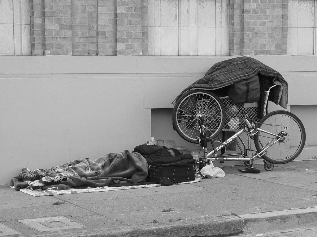 The city of Angouleme in southwestern France is trying to deal with the problem of homeless people.