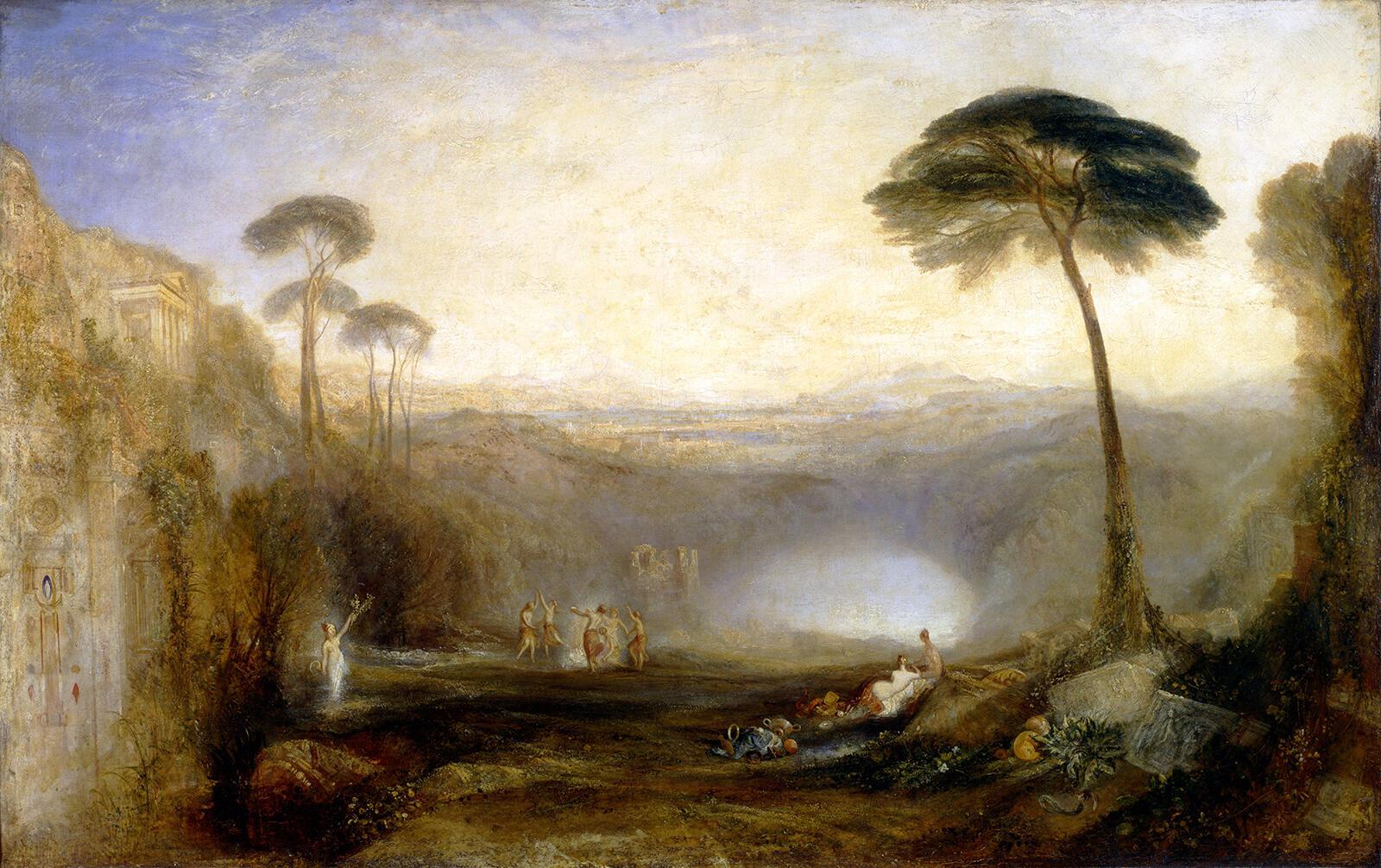 Золотая ветвь.  Уильям Тернер. Холст, масло. Выставлялась в 1834 г.