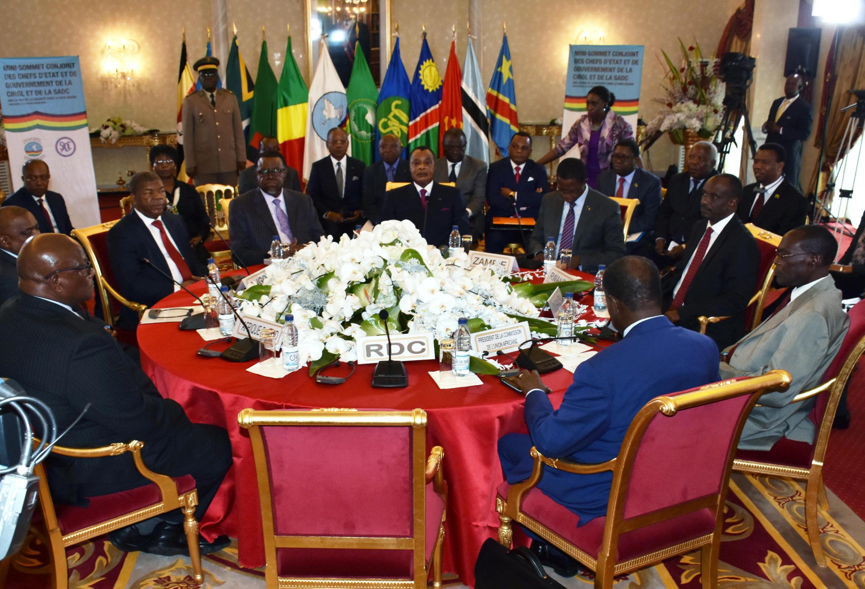 Mkutano wa SADC kuhusu hali ya uchaguzi nchini DRC, Desemba 2018 (picha ya kumbukumbu).