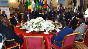 在剛果(布)舉行的應對剛果(金)選舉的鄰國會議上並沒有來自剛果(金)政府的代表參加,2018年12月26日。