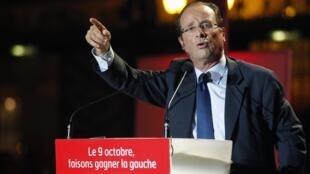 O deputado François Hollande, candidato às primárias do Partido Socialista francês