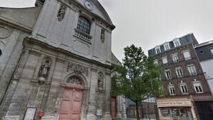 The church in Rouen, northern France, in which Jean-Baptiste Sèbe killed himself on Tuesday.
