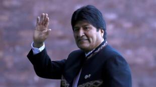 Le président bolivien Evo Morales à Mexico le 1er décembre 2018.