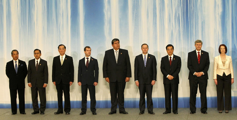 橫濱亞太經合閉幕 各國領袖等候發布宣言