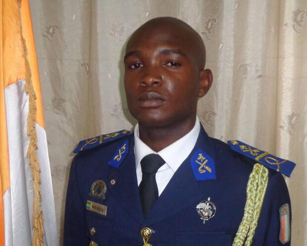 Ondo Obiang graduates as an officer.