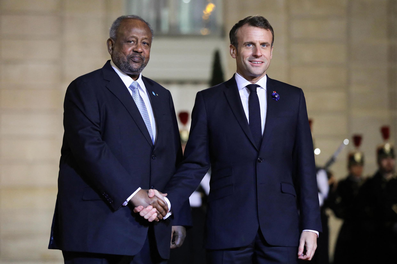 Shugaban kasar Djibouti Ismail Omar Guelleh tareda Shugaban kasar Faransa Emmanuel Macron