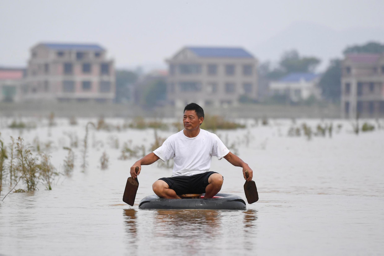 湖南衡陽龍頭水災,照片攝於2019年7月11日