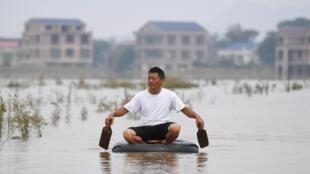 湖南衡阳龙头水灾,照片摄于2019年7月11日