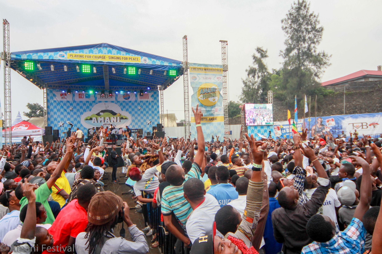 Wananchi wa DRC wakihudhuria tamasha la amani lililofanyika Goma, Februari 12 mwaka 2016.