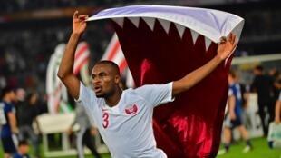 Abdel Karim Hassan lors de la victoire du Qatar en Coupe d'Asie des nations 2019.