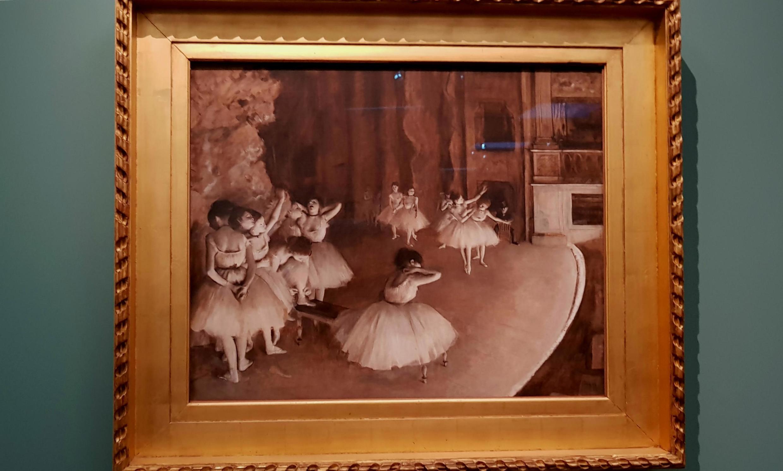 «Репетиция балета на сцене»
