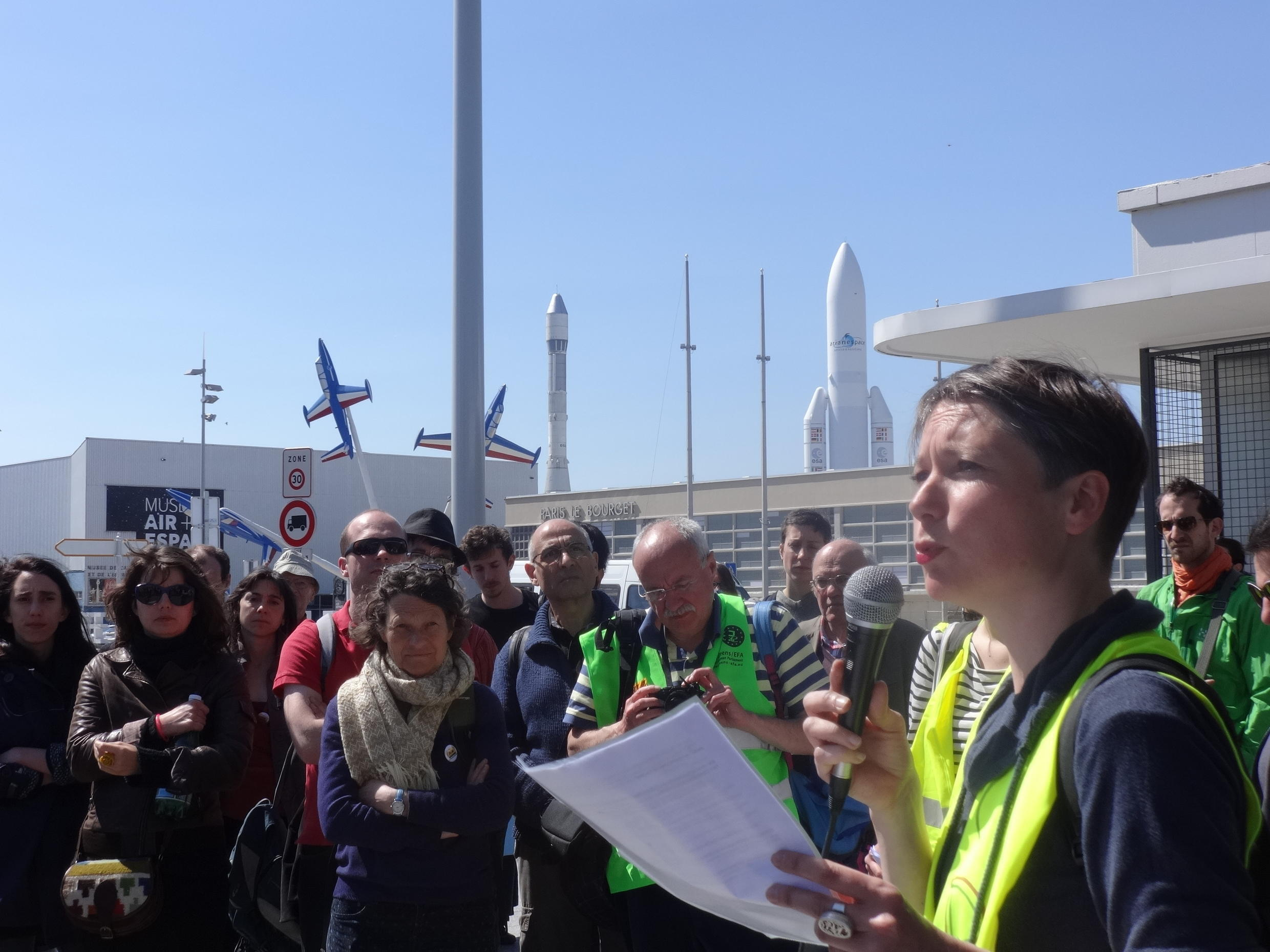 Jade Lindgaard introduces a Toxic Tour of the airport at Le Bourget, north of Paris