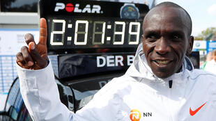 Eliud Kipchoge eclipsed the world record for a marathon set by another Kenyan, Dennis Kimetto, in 2014.