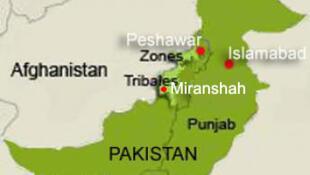 Ramani ya Pakistan na jirani zake