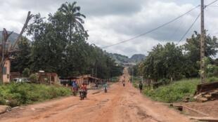 Les rues désertées de Savè, samedi 15 juin, après les violences.