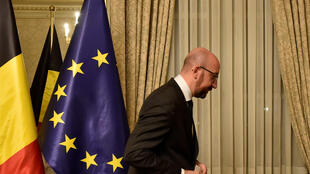 Belgium's Prime Minister Charles Michel leaves after a news conference in Brussels, Belgium December 8, 2018.