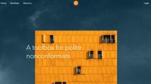 Capture d'écran du site Dissident.ai.