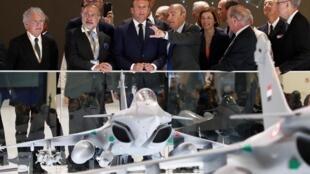 امانوئل ماکرون، رئیس جمهوری فرانسه روز دوشنبه هفدهم ژوئن/ ۲۷ خرداد طی مراسمی از ماکت جنگنده هوائی تازه این کشور رونمایی کرد.