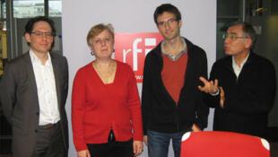 De gauche à droite : Stefan Seidendorf, Corinne Deloy, Fabien Escalona et Daniel Desesquelle.