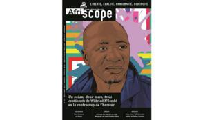 Wilfried N'Sondé en couverture du magazine culturel «Afriscope» du mois de décembre 2017.
