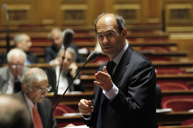 Eric Woerth au Sénat, lors du vote de la loi sur la réforme des retraites, le 22 octobre 2010.