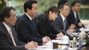日本首相野田佳彥周一與中國國家主席胡錦濤、人大委員長吳邦國會談