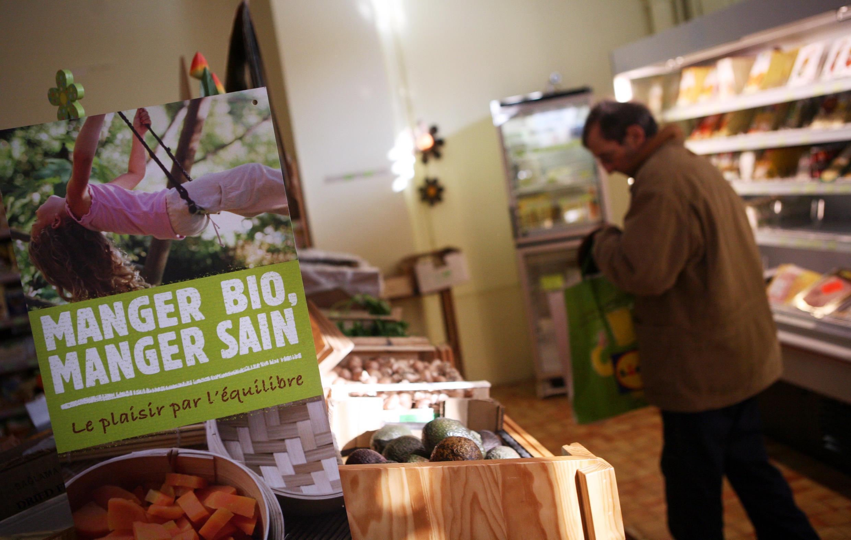 В магазине биопродуктов, Франция