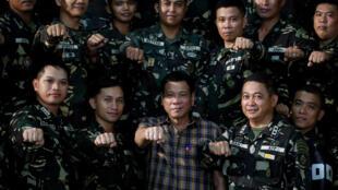 Tổng thống Philippines Rodrigo Duterte tại một doanh trại quân đội ở Tanay, Rizal ngày 24/08/2016.