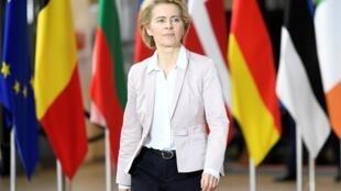 La présidente de la Commission européenne, Ursula Von der Leyen, au sommet des dirigeants de l'Union européenne, à Bruxelles, le 18 octobre 2019.