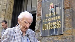 Laszlo Csatary, 18 July 2012 in Budapest