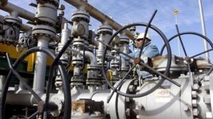 Raffinerie de pétrole en Irak.