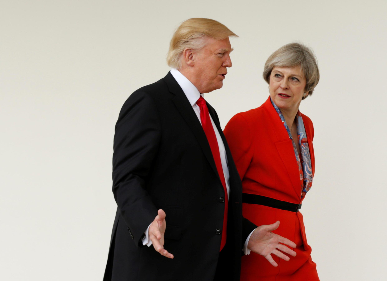 """Tuần """"trăng mật"""" Anh- Mỹ đã đi qua. Donald Trump (T) và Theresa May tại Nhà Trắng, ngày 27/01/2017."""