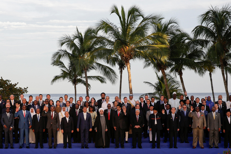 """سران کشورهای شرکتکننده در """"هفدهمین نشست سران عدم تعهد"""" در ونزوئلا.  شهریور/ ١٧ سپتامبر ٢٠۱۶"""