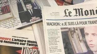Capas dos diários franceses 16102017