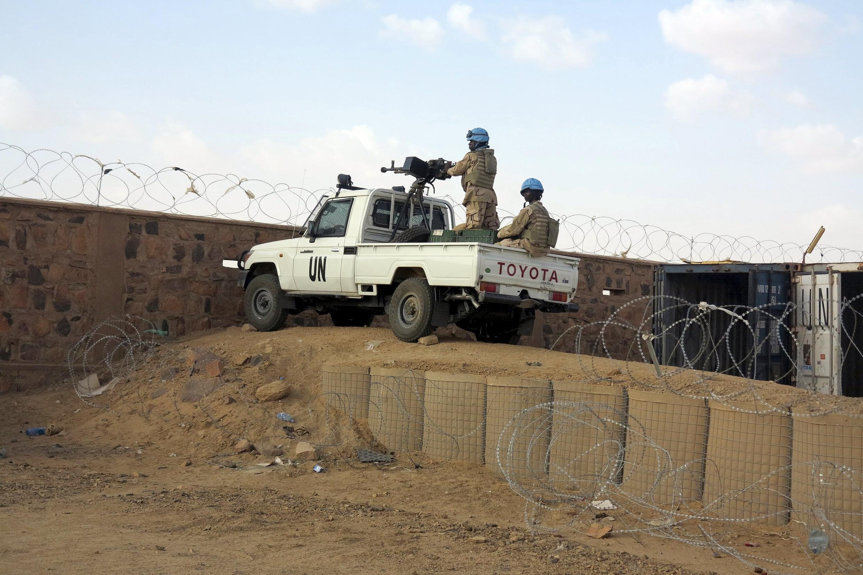 Des casques bleus de la Minusma à Kidal, dans le nord du Mali, le 22 juillet 2015.
